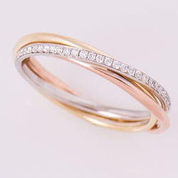 fancy two tone diamond band