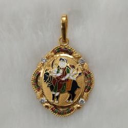 916 Gold Fancy Meladi Maa Pendant