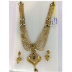 RAJWADI CHANDAN HAAR NECKLACE SET ST0116