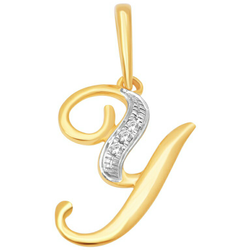 18K Gold Real Diamond Pendant MGA - RP0025