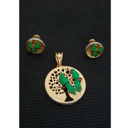 916 Gold Exclusive Parrot Design Pendant Set For Women RH-PS001