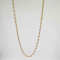 18 karat, detailed rose gold chain for women