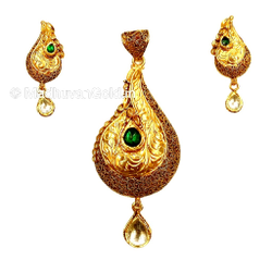 22k Gold Antique Pendant Set MGA - GPS002
