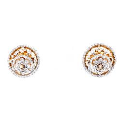 Flower Motif with Circular Design in Premium Quality Diamond 7TOP125