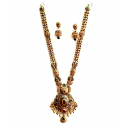916 Gold Antique Necklace Set MGA - GN029