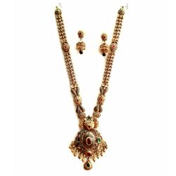 916 Gold Antique Necklace Set MGA - GN029