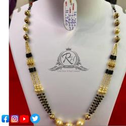 22 carat gold fancy ladies mangalsutra RH-MN561