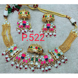 Designer Hathi Ghoda And Palki Style Choker Golden And Kundan's Combo1091