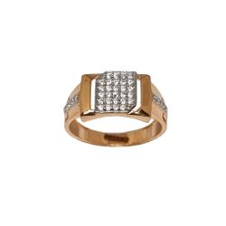 18K Rose Gold Designer Gents Ring MGA - GRG0263