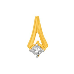 18k gold real diamond fancy earring mga - rde009