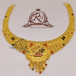 22 carat Gold kalkati set RH_ST912