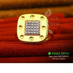 Classic Cz Gold Fancy Ladies Ring LRG -0191