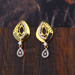 Ladies 22K Gold Fancy Latkan Earrings -LFE153