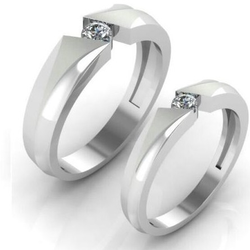 95 Pure Platinum fancy couple band