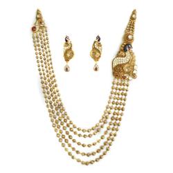 22k gold antique mala mga - am001