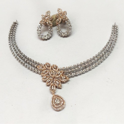 Diamond necklace set for wedding md-n001