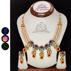 22 carat gold statement fashion ladies set RH-LS419
