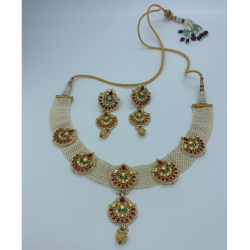 Designer Kundan Bridal Necklace Set