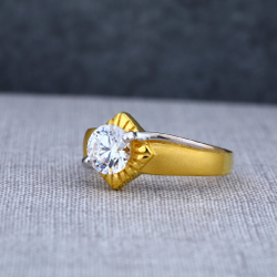 22Ct Fancy Solitaire Gold Mens Ring-MSR22