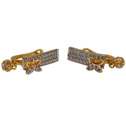 18K Gold Butterfly Designer Earrings MGA - BLG0621