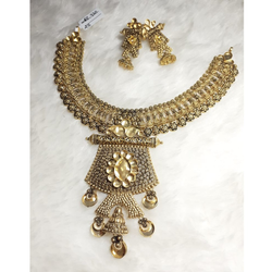 22KT Gold Contemporary Khokha Necklace Set KG-N08