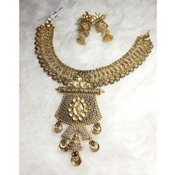 22KT Gold Contemporary Khokha Necklace Set KG-N08
