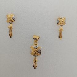 Gold Butty pendant set by Vinayak Gold