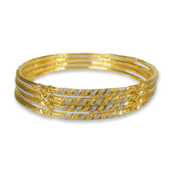 22KT VERTICAL DESIGNED GOLD COPPER KADLI BANGLE