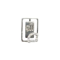925 Sterling Silver Rectangle Shape Shree Pendant MGA - PDS0037
