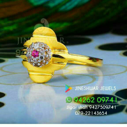 Cz casting gold fancy ladies ring lrg -0237