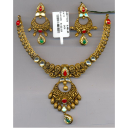 916 Gold Antique Necklace Set GC-N01
