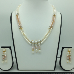 Freshwater Shaded Flat 2 Lines Pearls Set JPP1046
