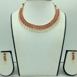 RedCZ Stones Necklace Set JNC0177