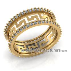 18K Yellow Gold Casting Diamond Ring For Women