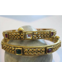 22k antique jadtar bangle