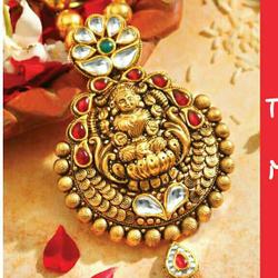 916 gold south indian antique pendant