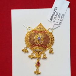 Gold Kalkatti M.S Pendents by Sneh Ornaments