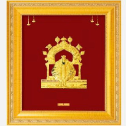 24 K GOLD GOD AMBABAI MAHALUXMI PHOTO FRAME RJ-PGA46