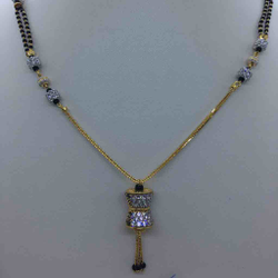 916 Gold CZ FANCY MANGALSUTRA DOKIA