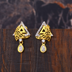 Ladies 22K Gold Fancy Earrings -LFE151