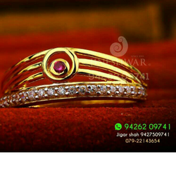 Gold Classic Fancy Ladies Ring LRG -0216