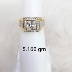 solitaire gent's ring by
