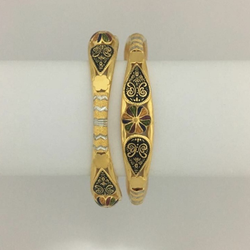 916 Gold Antique Kadli Bangle RH-B008