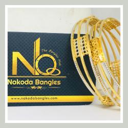 916 Gold CNC Bangles NB - 726