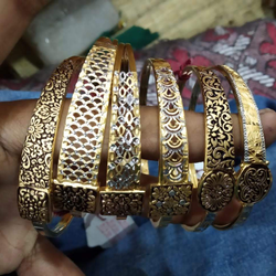 Gold Fancy Ladies Bangles by Sneh Ornaments