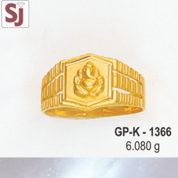 Ganpati Gents Ring Plain GP-K-1366