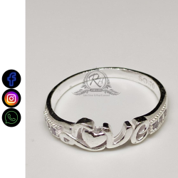silver charming love finger ladies rings RH-LR418