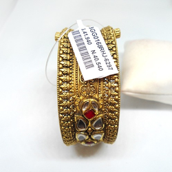 916 Gold Antique Kundan Kada Bangle RHJ-6297