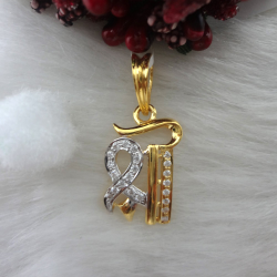 916 gold cz diamond pendant