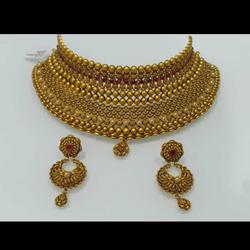 gold neckless by Devika Art Jewellery